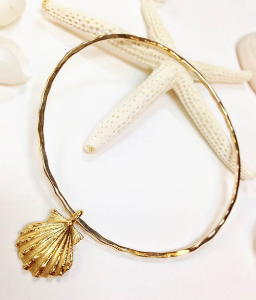 《MISHA HAWAII》 Sunrise Shell Bangle []