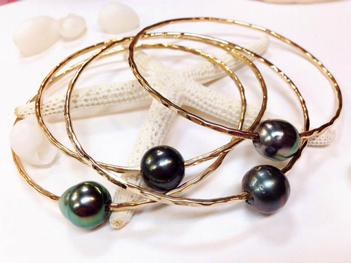 《MISHA HAWAII》 Tahitian Black Pearl Bangle []